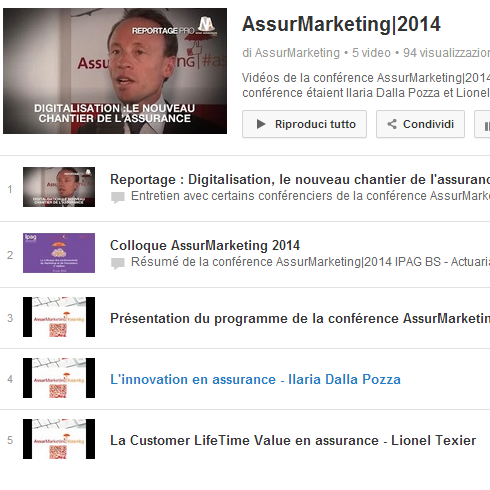 Playlist des videos AssurMarketing|2014